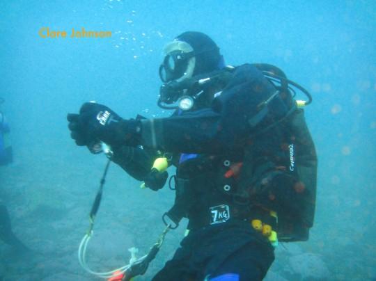 Drysuit diving in the Atlantic