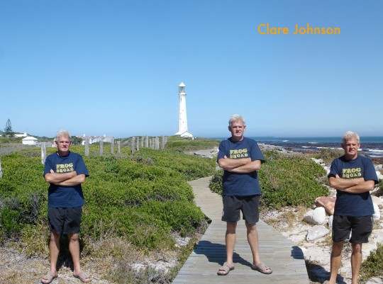 """Tony making trouble in front of Slangkop lighthouse in Kommetjie. Does this count as """"simple composition""""?"""