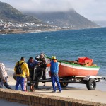 Launching the boat