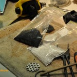 Bags of charcoal and drying agent