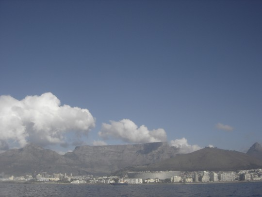 View of Table Mountain from the water this morning