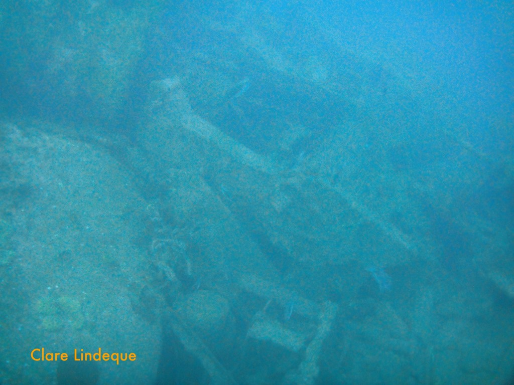 Jumbled wreckage of the SS Lusitania