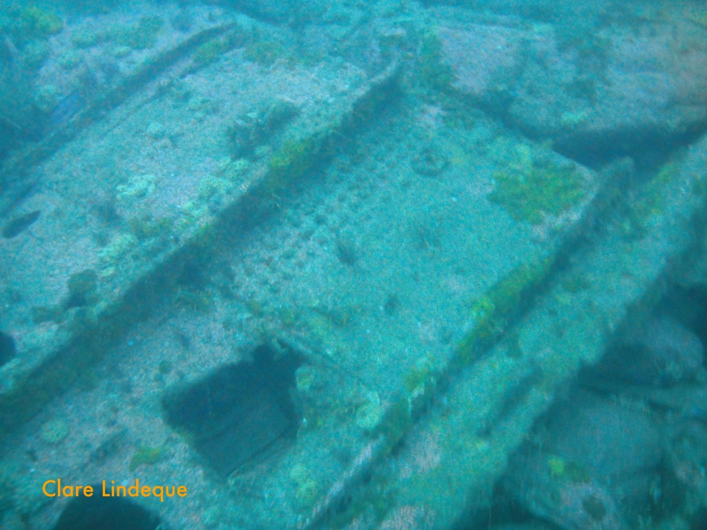 Great sheets of wreckage
