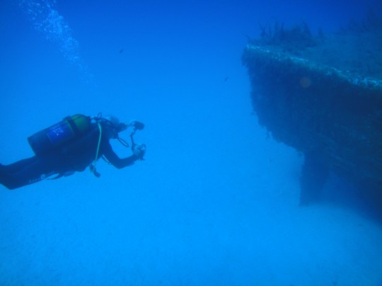 Clear water at 32 metres