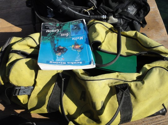 A well-worn copy ready for a dive briefing!
