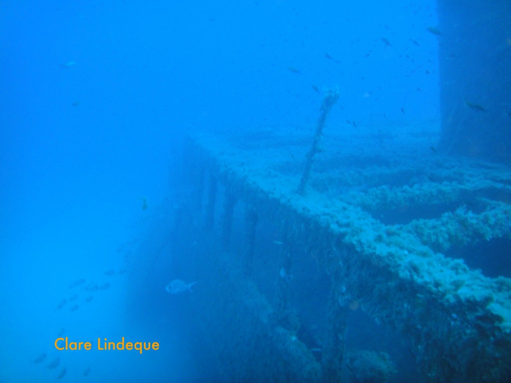 One side of the wreck