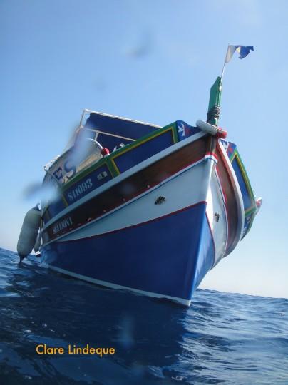 Boat diving in Malta