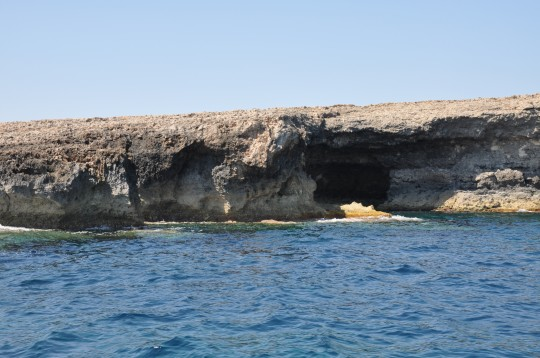 Entrance to one of the many caves