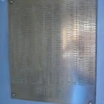 Brass information plate
