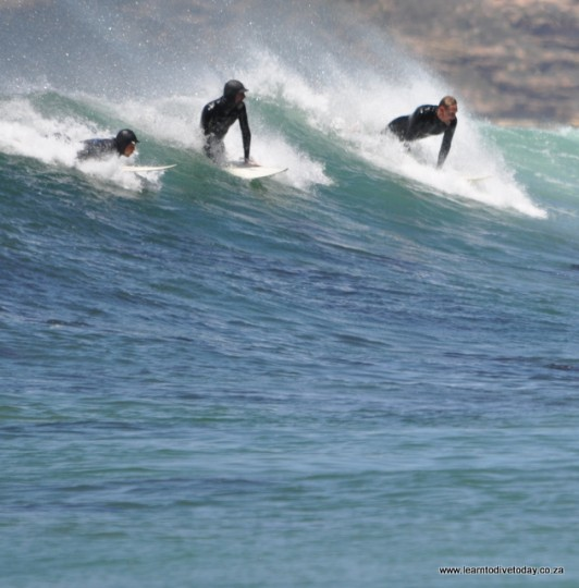 Surfers near Cape Point