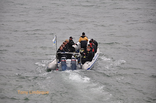 Divers on board