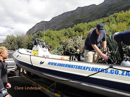 Underwater Explorers at the unloading area