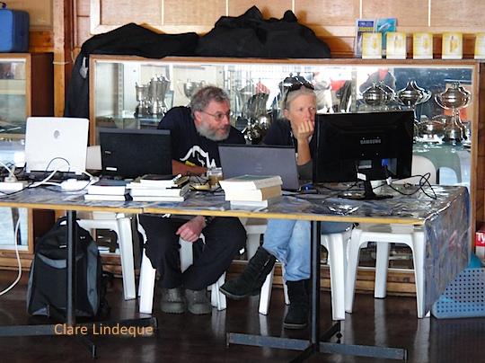 Peter and Georgina of SURG, deliberating