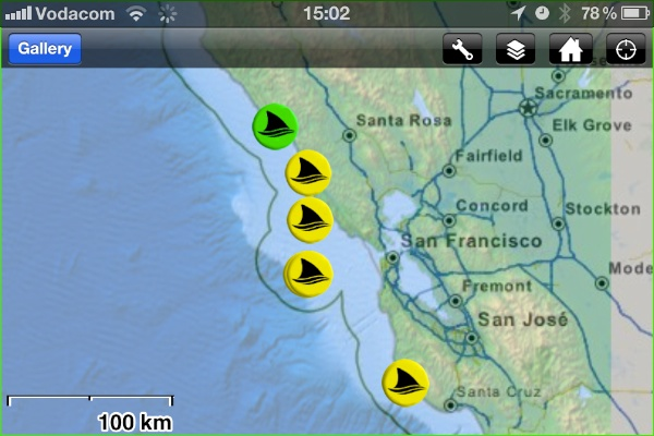 Tracking sharks on your mobile with Shark Net