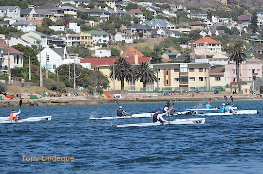 Competitors in the Cape Point Challenge surfski race