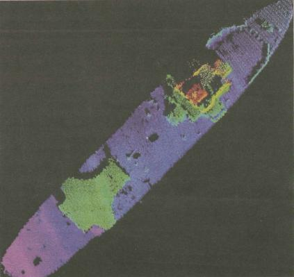 Article: Wired on mapping a sunken aircraft carrier