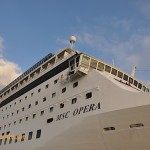 The superstructure of the MSC Opera