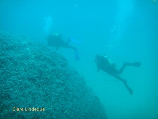 Rounding the stern of the Katsu Maru