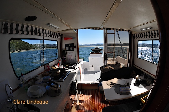 Interior of the houseboat
