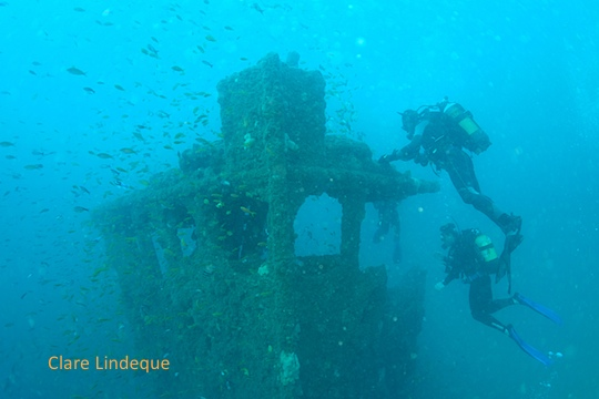 Dive sites (Durban): Coopers light wreck