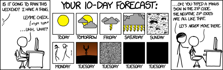 xkcd: 10 day forecast