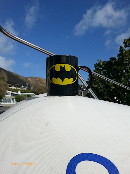 What does Batman drink out of?