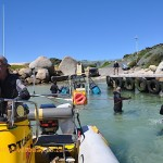 Towing the braai into deeper water