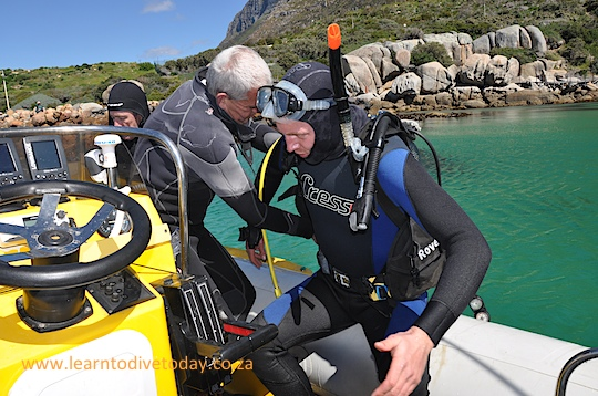 Getting into dive gear