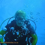 Scary person on a dive with us