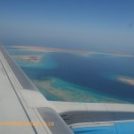 Flying in to Hurghada the reefs are visible from the air