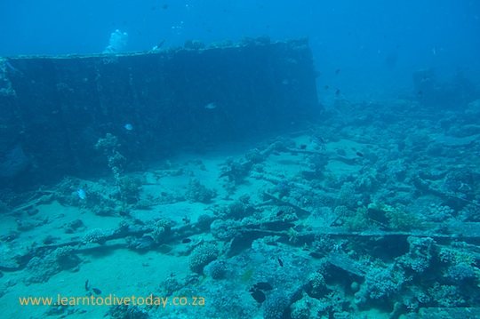 Part of the barge wreck