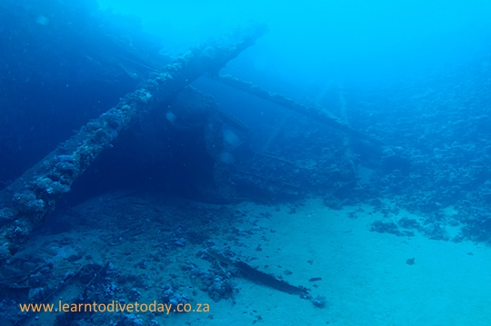 The starboard side of the Chrisoula K