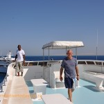 Tony on the fly deck with Captain Mohammed