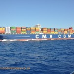 The CMA CGM Alexander von Humboldt, one of the world's largest container ships
