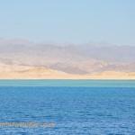 Hazy desert landscape