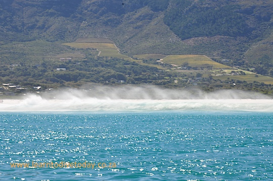 Sea spray on Long Beach, Noordhoek