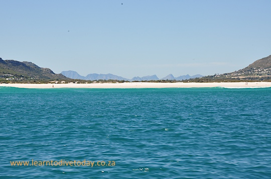 View across False Bay from the Atlantic