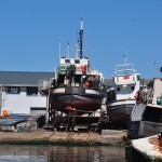 Boat out for repair at Hout Bay harbour