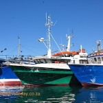 Fishing vessels moored in Hout Bay