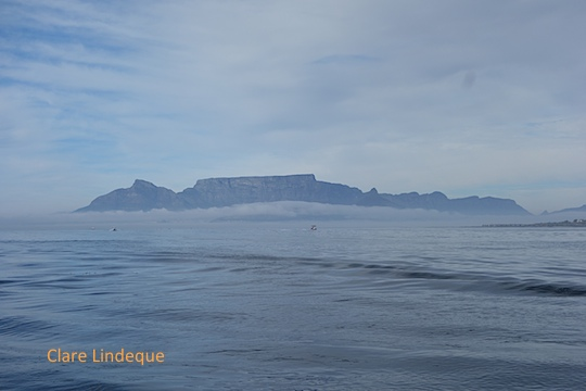 A blanket of mist below Table Mountain