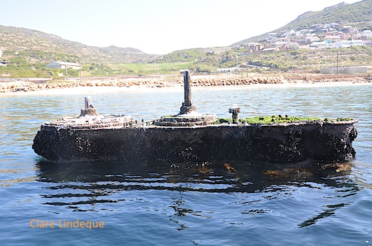 Seaward side of the Clan Stuart engine block