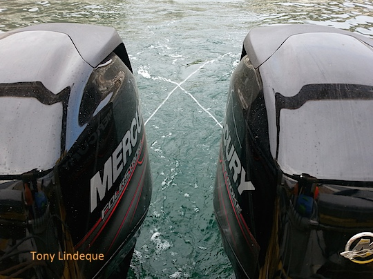 Replacing the outboard motors on Seahorse