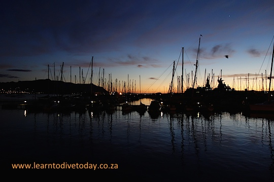 First light in the yacht basin