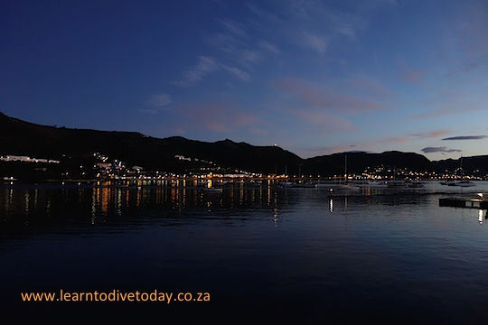 First light over Long Beach, Simon's Town