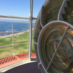 View past the lens to Mouille Point