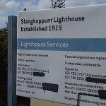 Slangkoppunt lighthouse signage