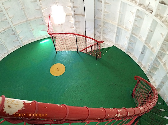 Interior of Slangkop lighthouse