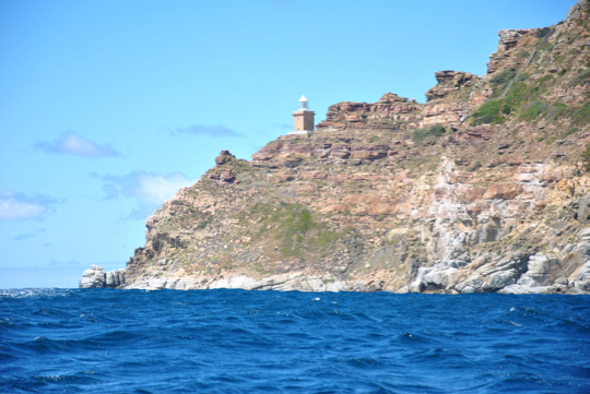 View of the new Cape Point lighthouse from the sea