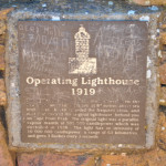 Plaque commemorating the commissioning of the lighthouse in 1919