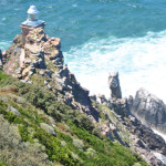 Raging seas below the Cape Point light